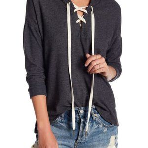 PST by Project Social T Brushed Lace-Up Hoodie